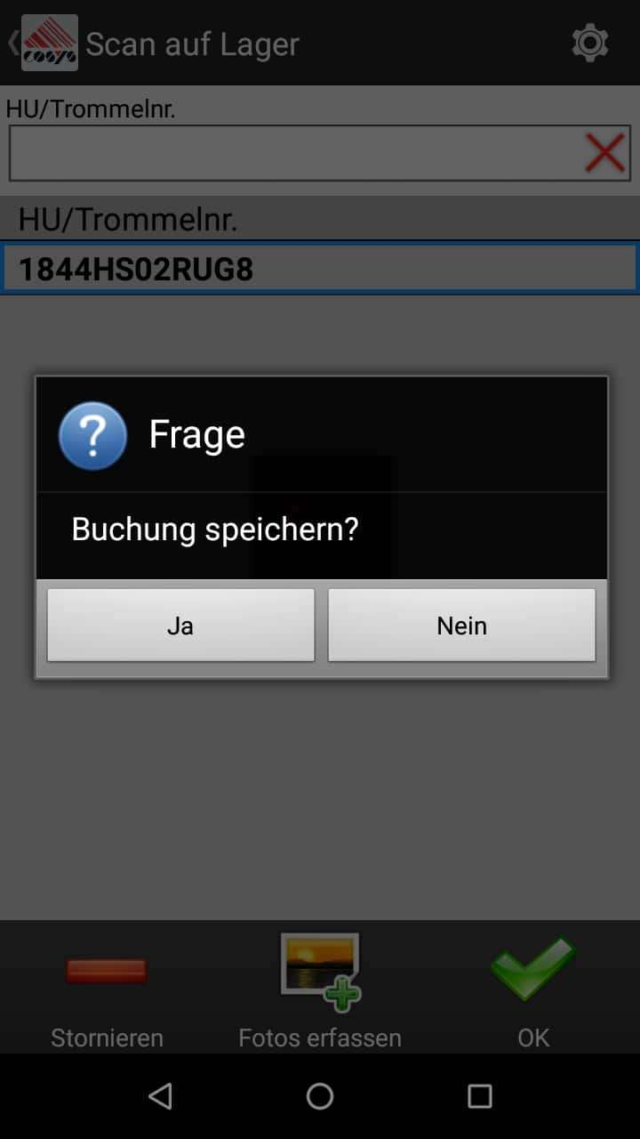 TMS Software Ablieferscannung Scan auf Lager