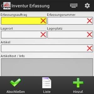 Inventur COSYS Instrumentenfachhandel Branche Software