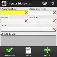 Inventur Lager Schraubenhandel / Schraubenhersteller Branche Software