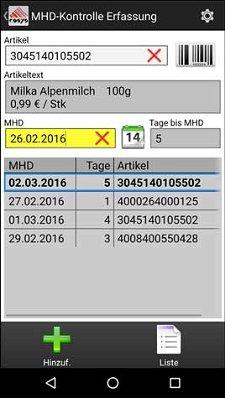MHD Kontrolle Lagerverwaltungsoftware