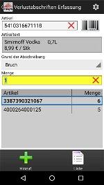 Verlustabschrift Android Software COSYS