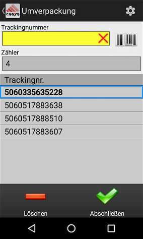 Umverpackung Aggregation Tabak Track and Trace