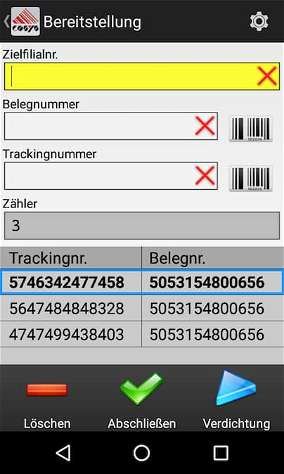 Bereitstellung Tabak Track and Trace