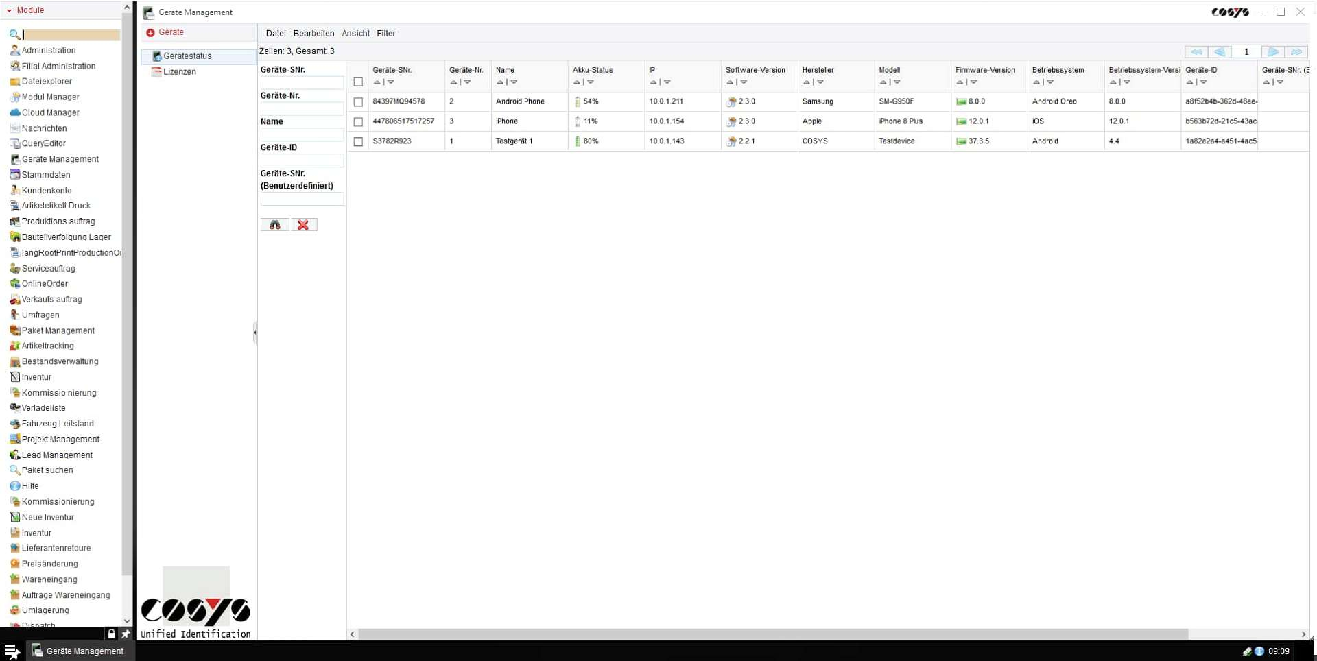 COSYS Cloud Backend (WebDesk)