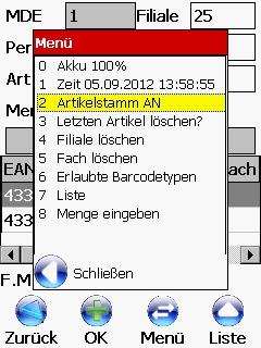 Barcode Erfassung Inventur