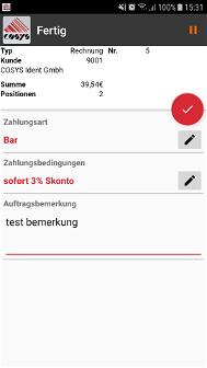 Online Order Kunde / Tresen Einzelhandel Schraubenhandel / Schraubenhersteller Branche Software