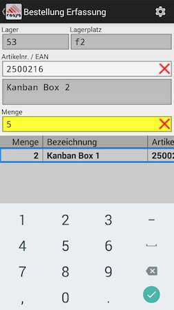 Kanban Bestellung