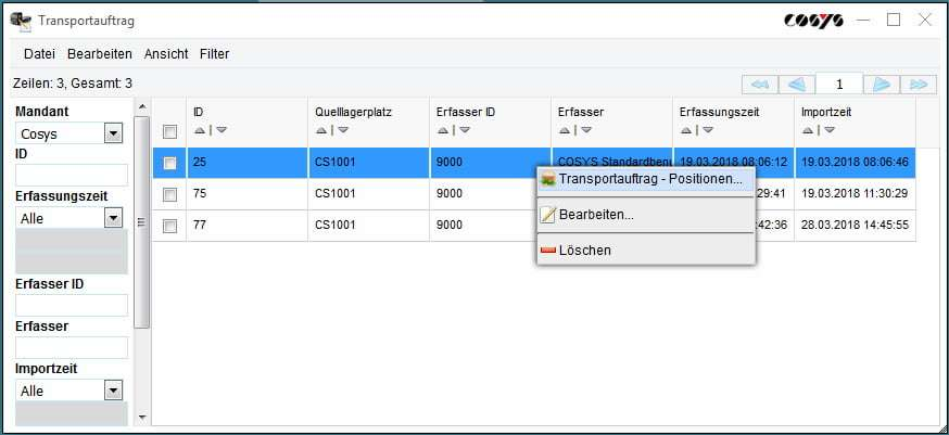 Kanban Bestellung Verwaltung COSYS WebDesk