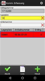 Kommissionierung Lager Schraubenhandel / Schraubenhersteller Branche Software
