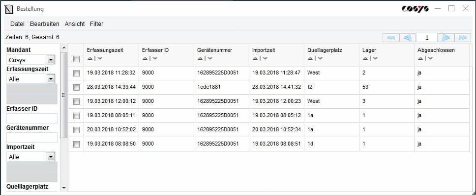 Kundenbestellung Order Online