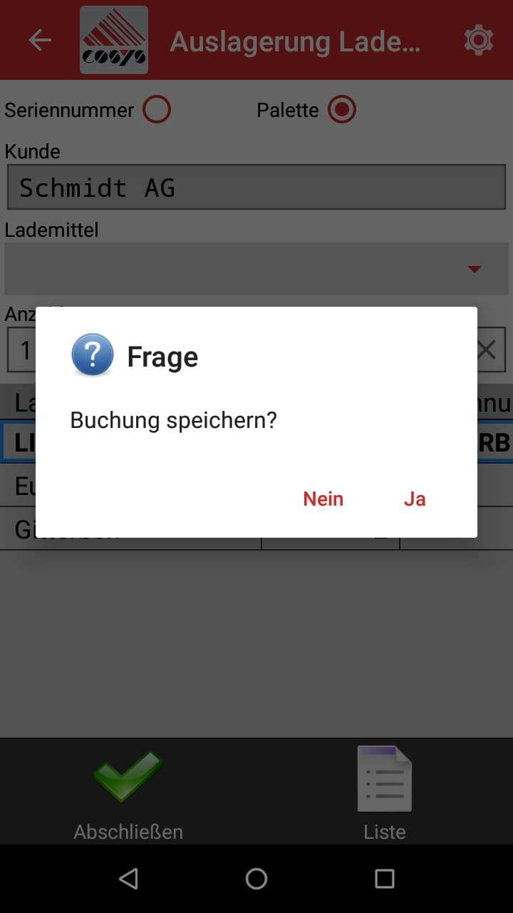 Lademittelverwaltung MDE Software
