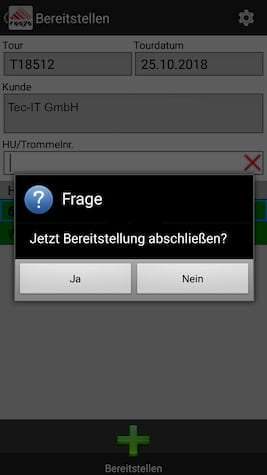 Ablieferscannung Mobile Datenerfassung COSYS