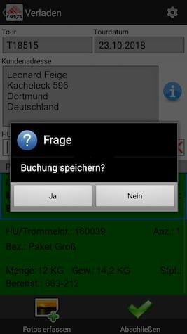Verladung Ablieferscannung Mobile Datenerfassung