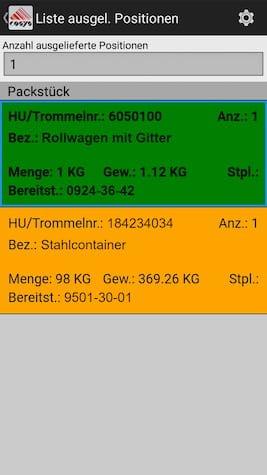 Auslieferung Ablieferscannung Mobile Datenerfassung