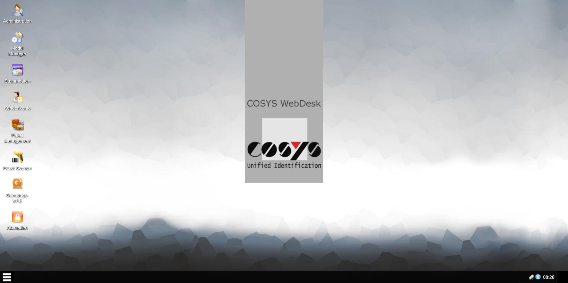 COSYS WebDesk Hauptmenü
