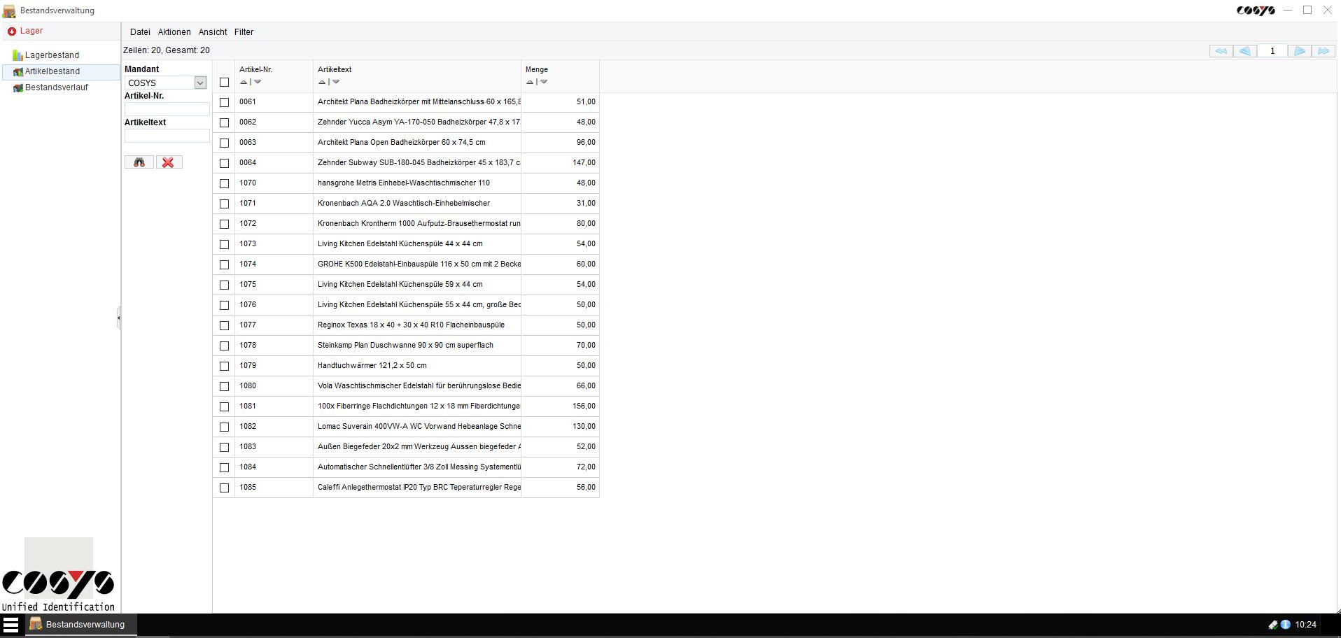 Bestandsverwaltung WebDesk