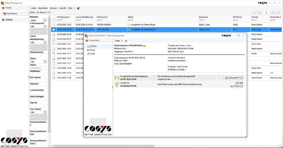 Inhouse Logistik Paket Management