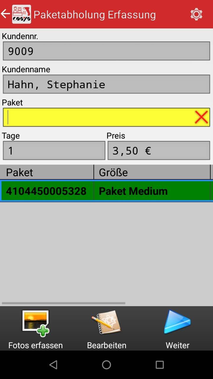 Paketabholung Paketshop Software