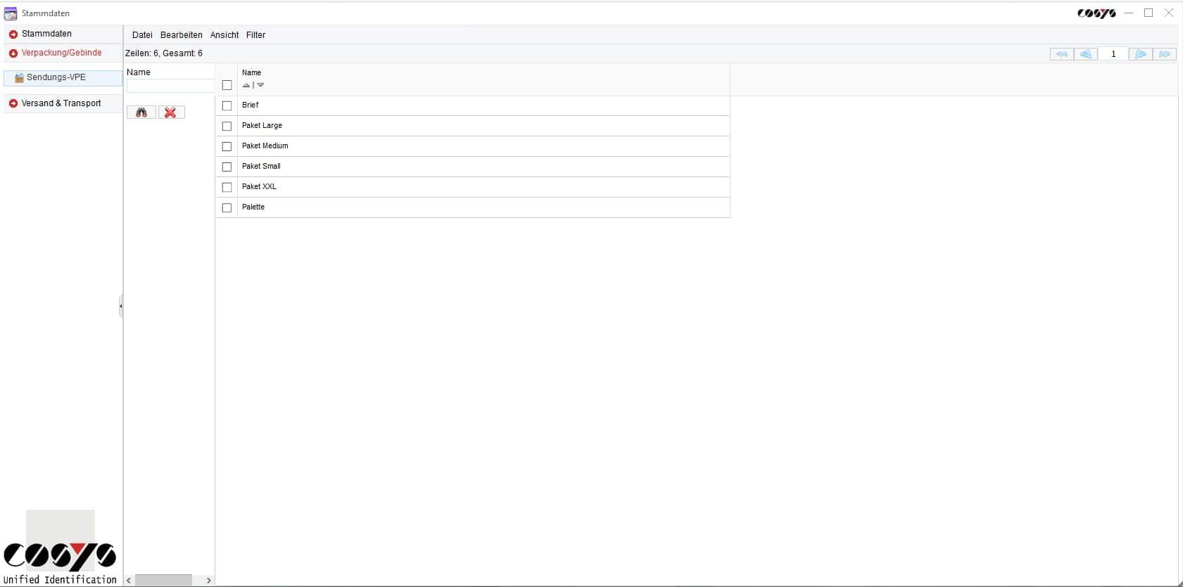 Stammdaten Empfänger WebDesk