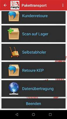 Pakettransport Management Lösung