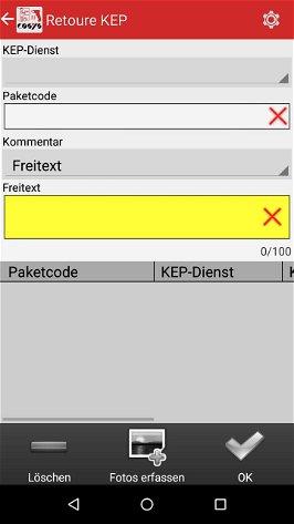 Transport im Paket Management Softwaremodule