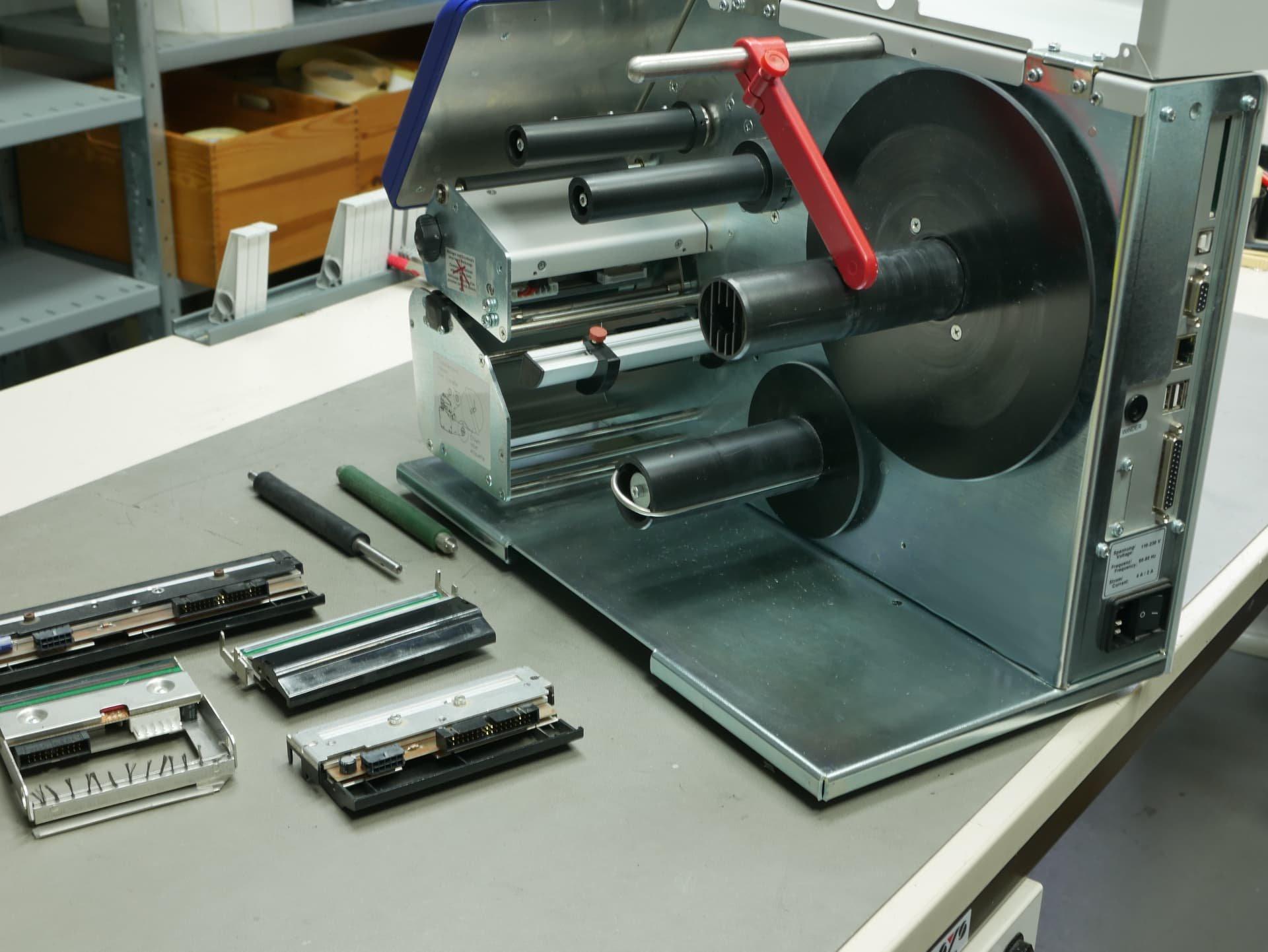 Reparatur von Etikettendruckern
