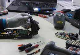 Reparatur mit Ersatzteile für MDE-Geräte
