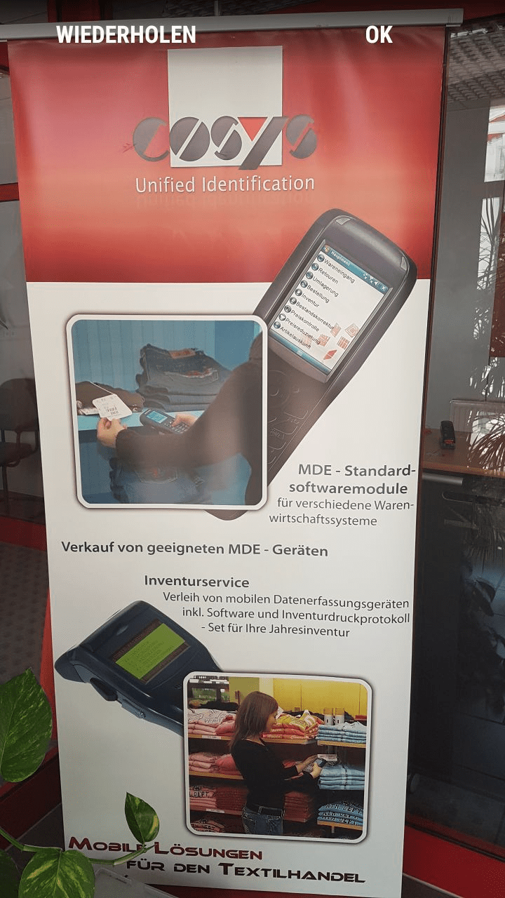 Kommissionierung Lagerplatz filtern Android Software von COSYS