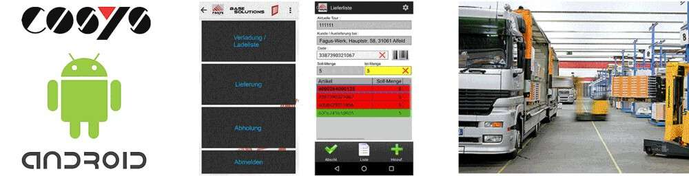 COSYS Mobile Datenerfassung Android Transport & Logistik