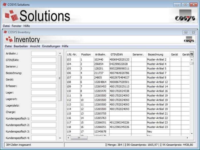 COSYS Solutions Server
