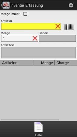 Inventur App Charge