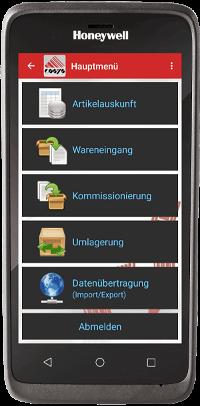 COSYS Lager App auf EDA 51
