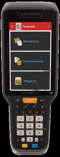 Skorpio X5 mit COSYS Lager-App