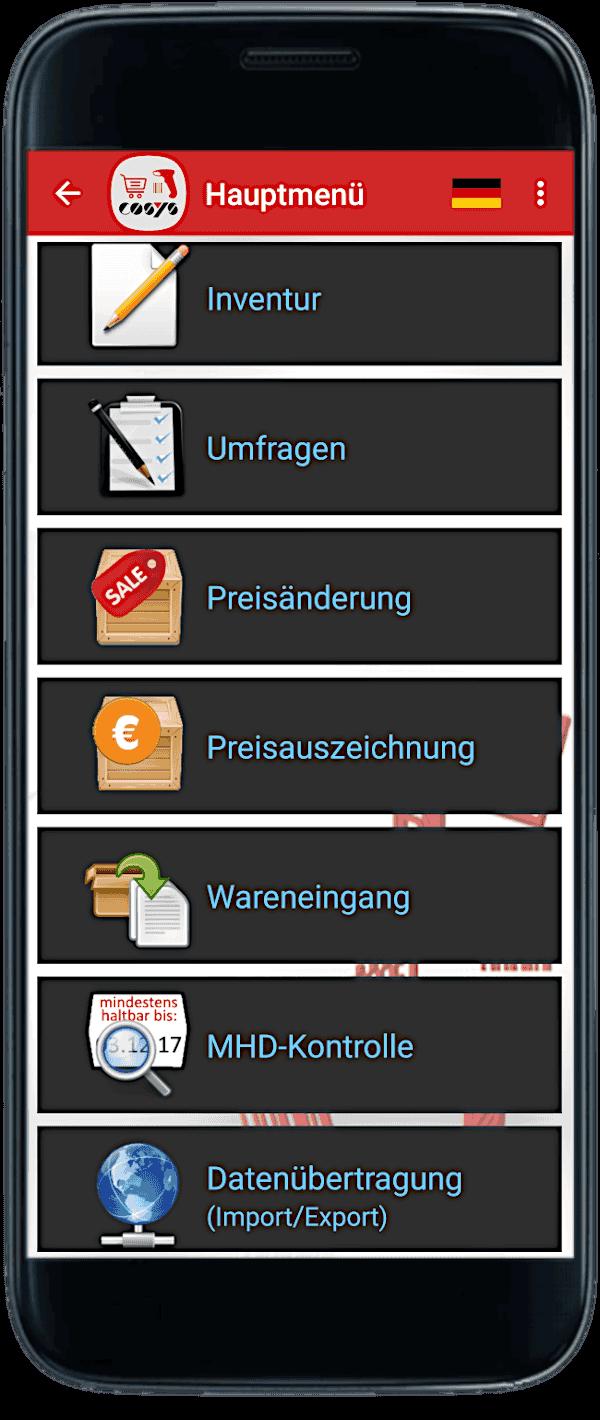 Smartphone Scanning auf Samsung Galaxy S8