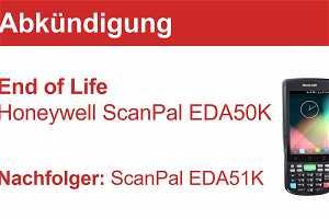 News: End of Life für den Honeywell ScanPal EDA50K