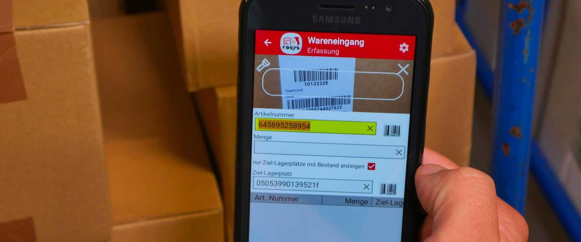 Warehouse Barcode Scanner App