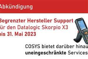 News: End of Service für den Datalogic Skorpio X3 und wie COSYS dagegen hilft