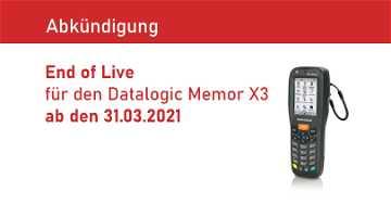 News: End of Live für den Beststeller Datalogic Memor X3