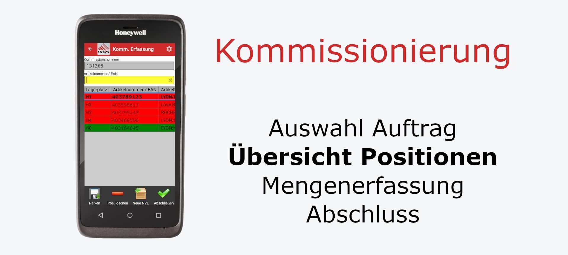 Kommissionierung – Übersicht Positionen