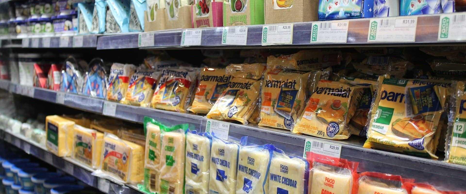 Lebensmittel für Kühlregale lagern