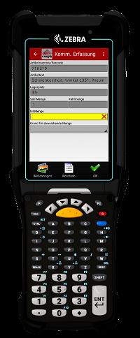 COSYS Kommissionierung auf MC9300