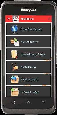 Pakettransport App auf EDA 51