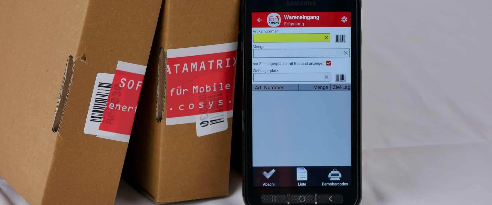 Das Bild zeigt COSYS mobile Bestandsfuehrung App fuer Smartphones - Android und iOS