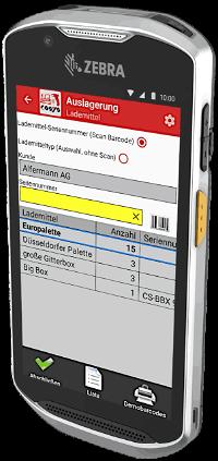 Lademittel App auf Zebra TC52x