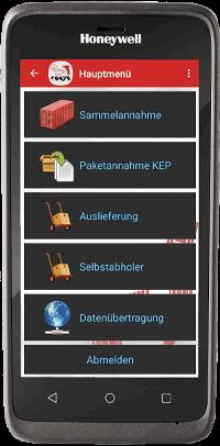Hauspost App auf EDA51