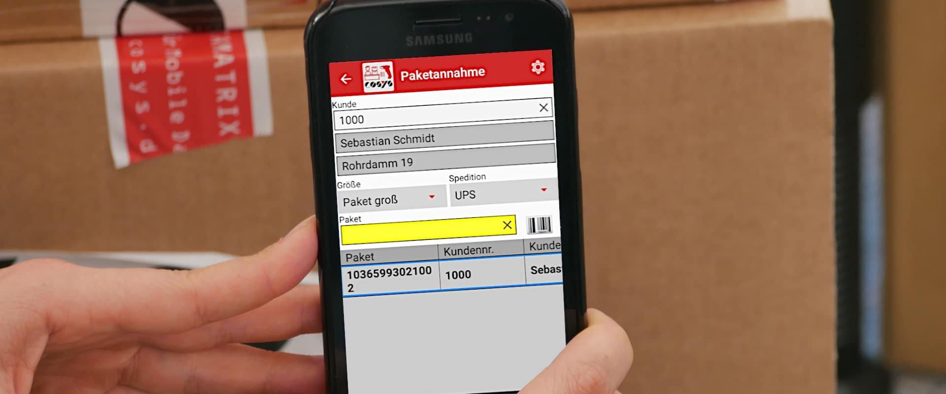 Mit einem Smartphone den Paketshop managen