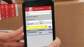 News: Mit einem Smartphone den Paketshop managen