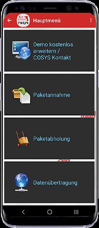 Smartphone Paketshop App